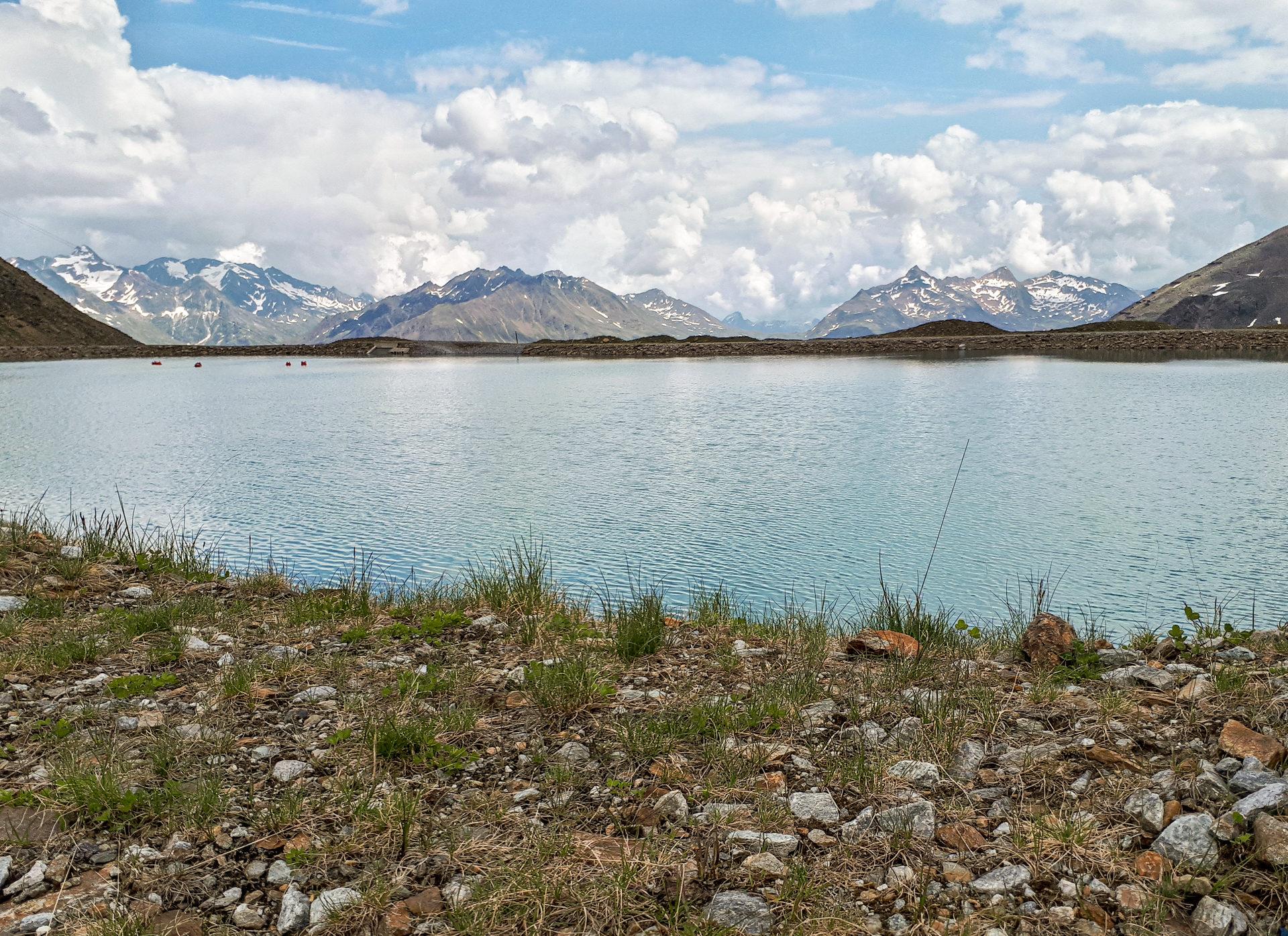 Небольшое озеро на старте Ollweite Line